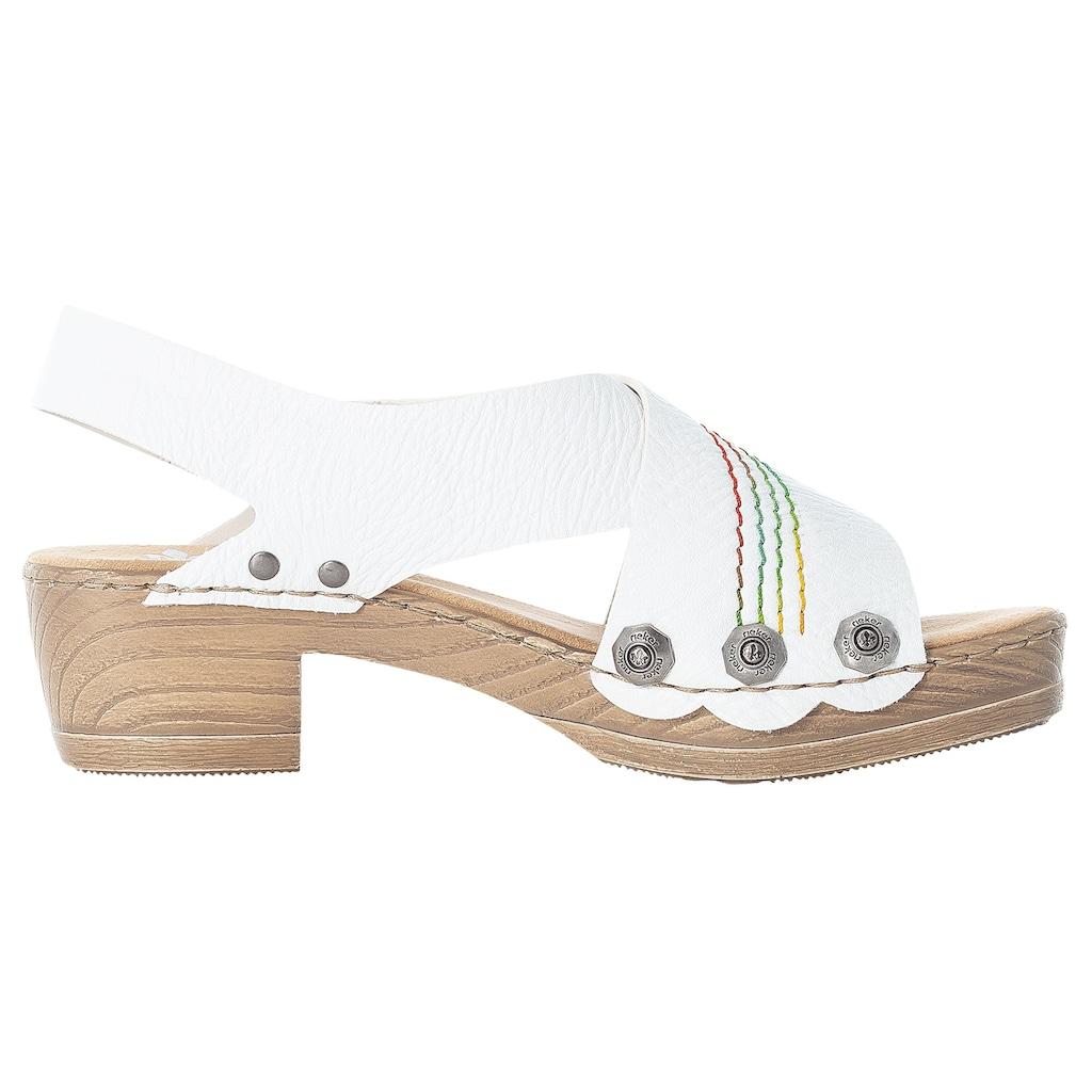 Rieker Sandalette, mit bunter Ziernaht