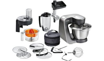 BOSCH Küchenmaschine »MUM5, HomeProfessional MUM57860«, vielseitig einsetzbar, Durchlaufschnitzler, 3 Reibescheiben, Zitruspresse, Fleischwolf, Mixer, Edelstahl/silber kaufen