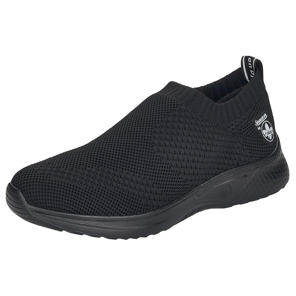 Rieker Slip-On Sneaker, in Strick-Optik
