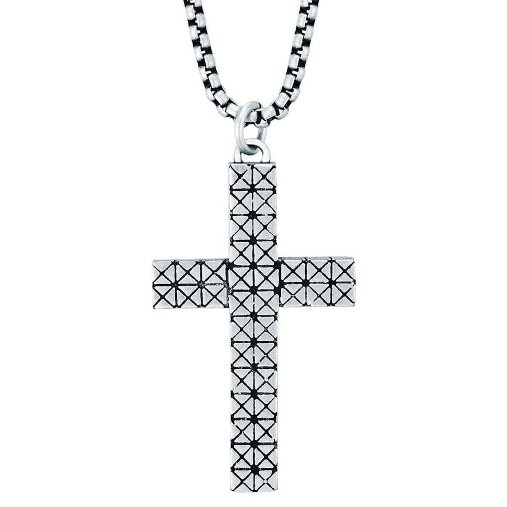 True Rebels Kreuzkette »LL985«, (1 tlg.), mit Kreuz
