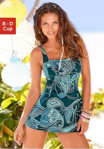 LASCANA Badekleid, mit schönem Druck oder unifarben kaufen