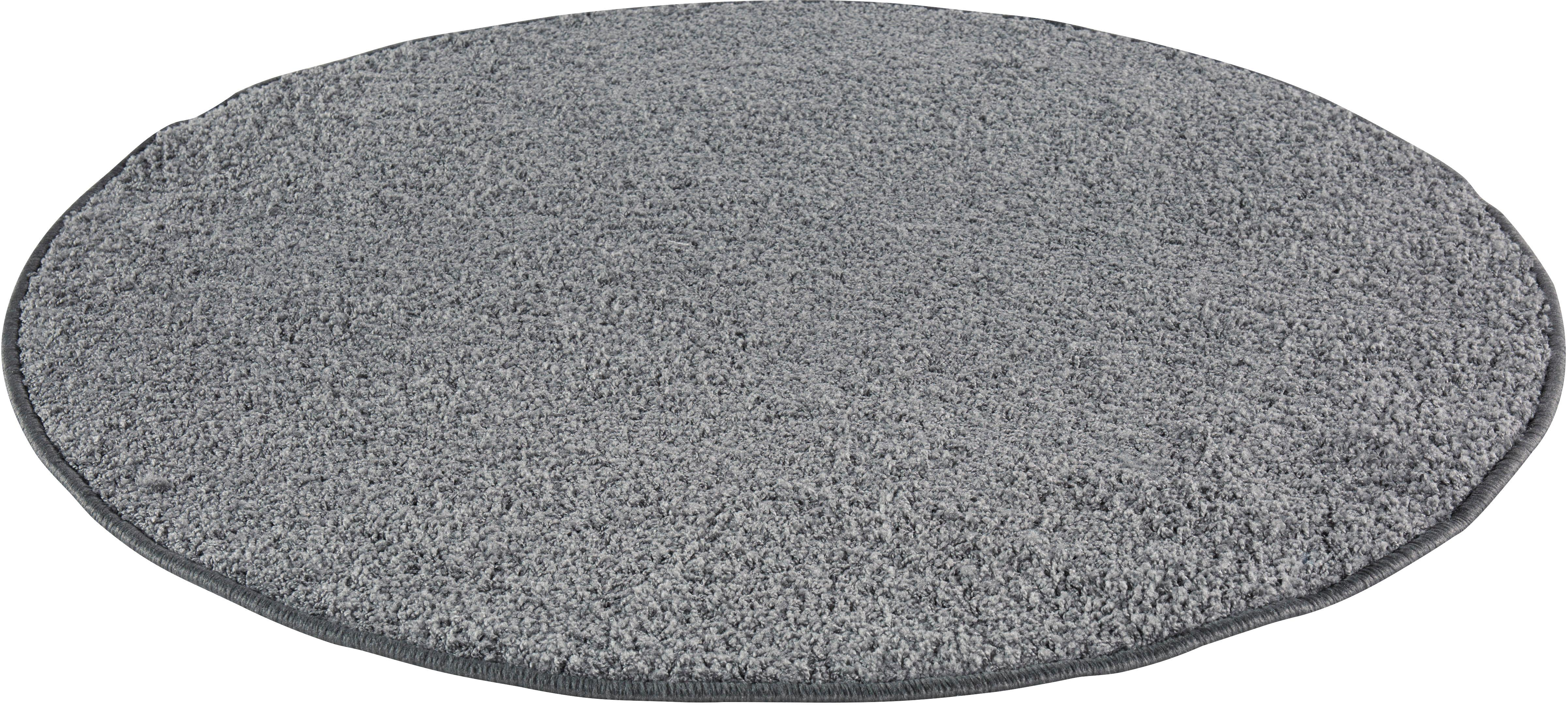 Teppich, »Shaggy uni«, Andiamo, rund, Höhe 15 mm, maschinell getuftet