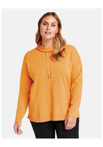 Samoon Rundhalspullover »Pullover im sportiven Design« kaufen