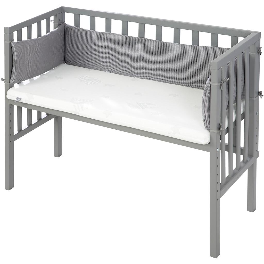 roba® Beistellbett »Safe Asleep® 2in1, Style taupe«, mit Matratze, Nestchen und Sicherheitsbarriere