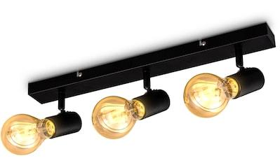 B.K.Licht Deckenspots, E27, 1 St., schwenkbare vintage Deckenleuchte, 3-flammige retro Deckenlampe, max.60W E27, Landhausstil, Deckenstrahler, ohne Leuchtmittel kaufen