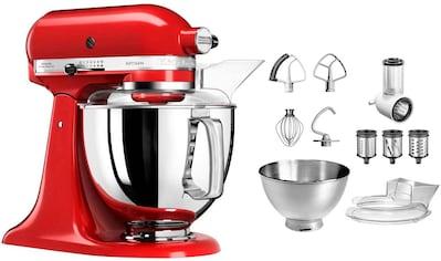 KitchenAid Küchenmaschine Artisan 5KSM175PSEER mit Gratis Gemüseschneider und 3 Trommeln (Wert ca. 105, -  UVP), 300 Watt, Schüssel 4,8 Liter kaufen