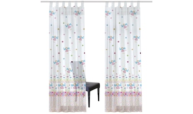 Vorhang, »KINDERSCHAL BORDÜRE«, HOME WOHNIDEEN, Schlaufen 1 Stück kaufen