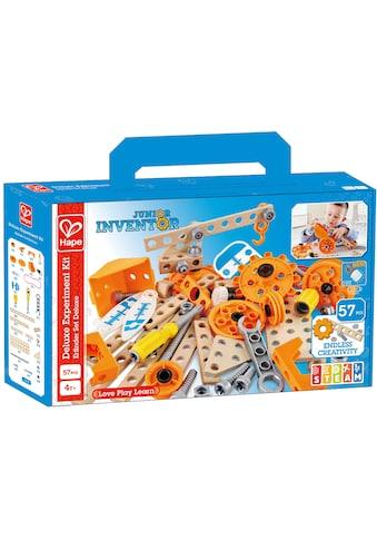 """Hape Konstruktions - Spielset """"Junior Inventor Erfinder Set Deluxe"""", Holz Kunststoff, (57 - tlg.) kaufen"""