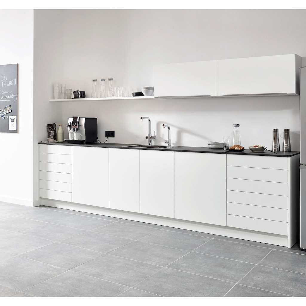 Grohe Küchenarmatur »Blue Professional L-Auslauf Set«, Trinkwasser Still, Medium oder sprudelnd, mit LED Anzeige, App steuerbar