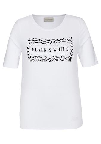 "VIA APPIA Stylisches T - Shirt ""Black & White"" kaufen"