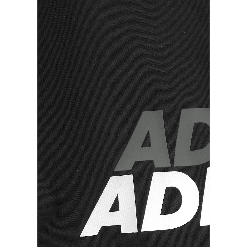adidas Performance Badeshorts, mit kontrastfarbenem Logodruck