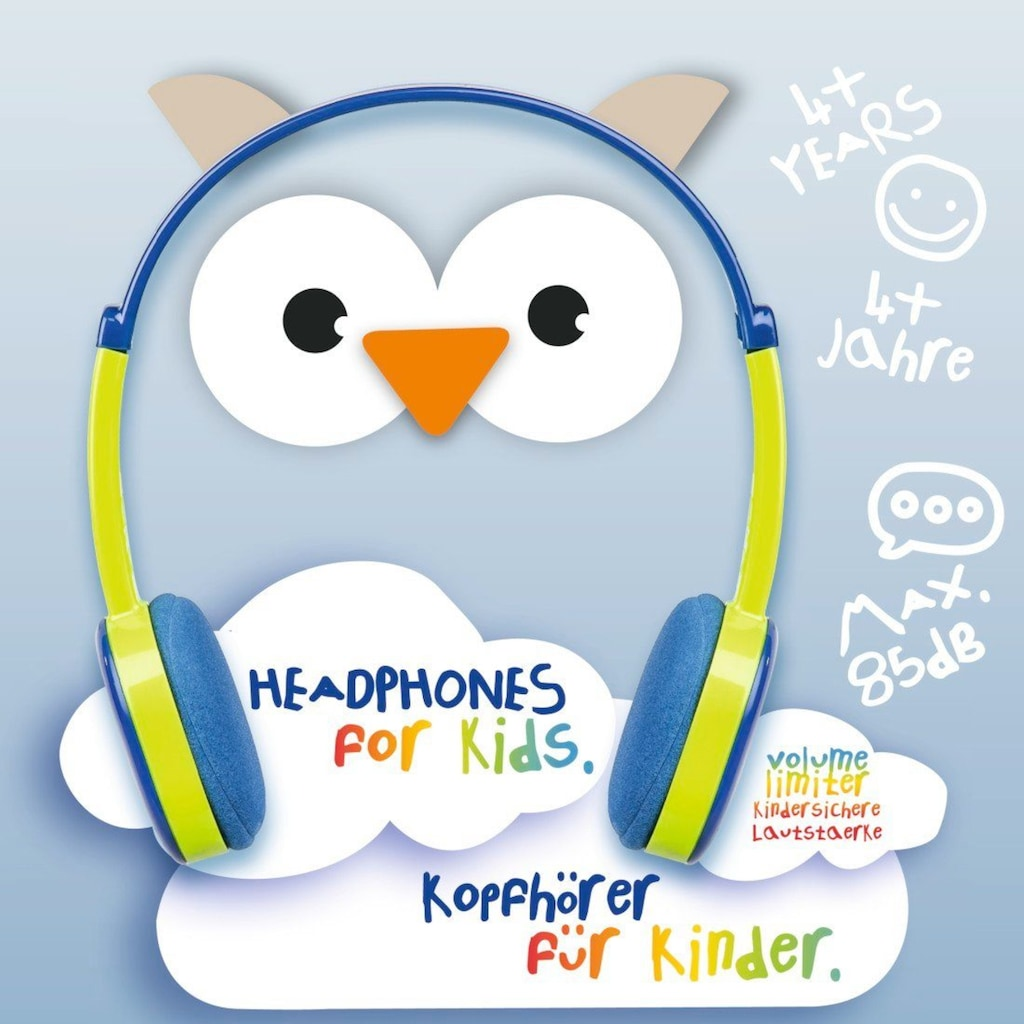Hama Kinderkopfhörer Kids, Blau/Grün »On Ear, Stereo, 3,5 mm Klinke«