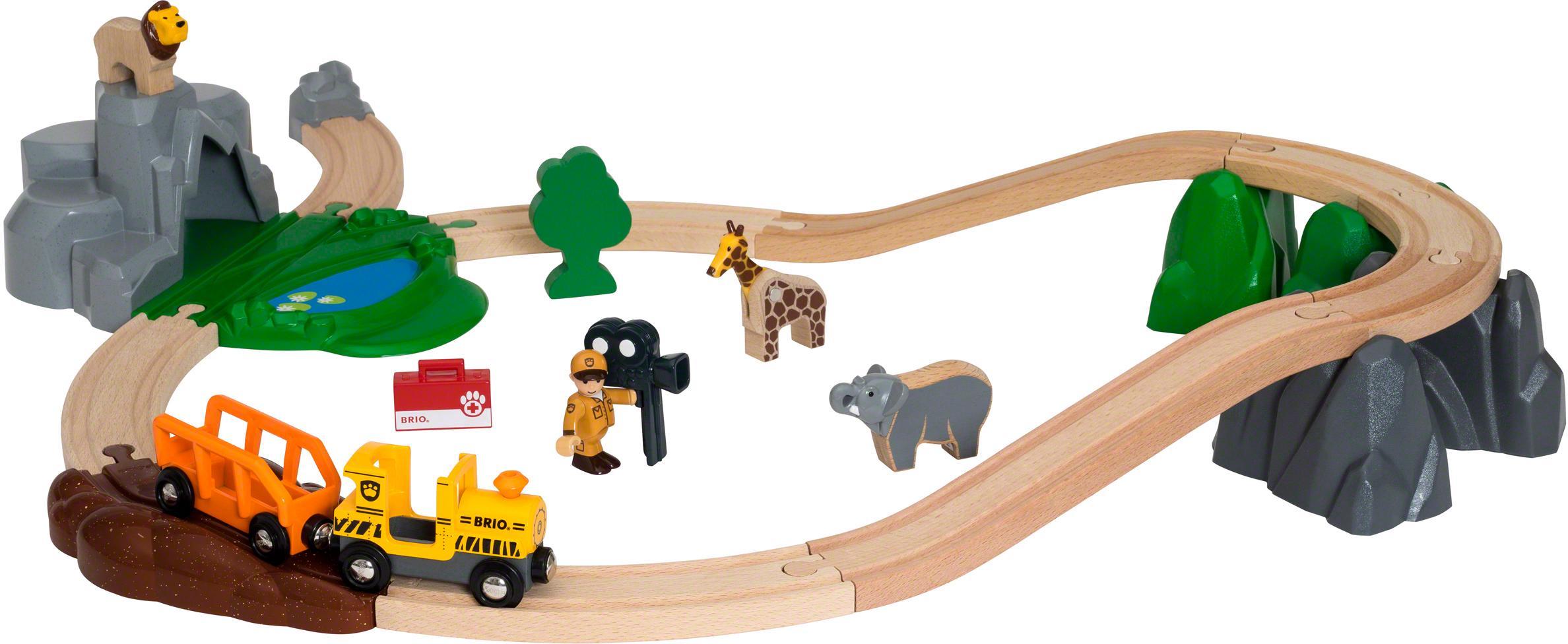 """BRIO Spielzeug-Eisenbahn """"BRIO WORLD Safari Bahn Set"""" Technik & Freizeit/Spielzeug/Autos, Eisenbahn & Modellbau/Kindereisenbahnen"""