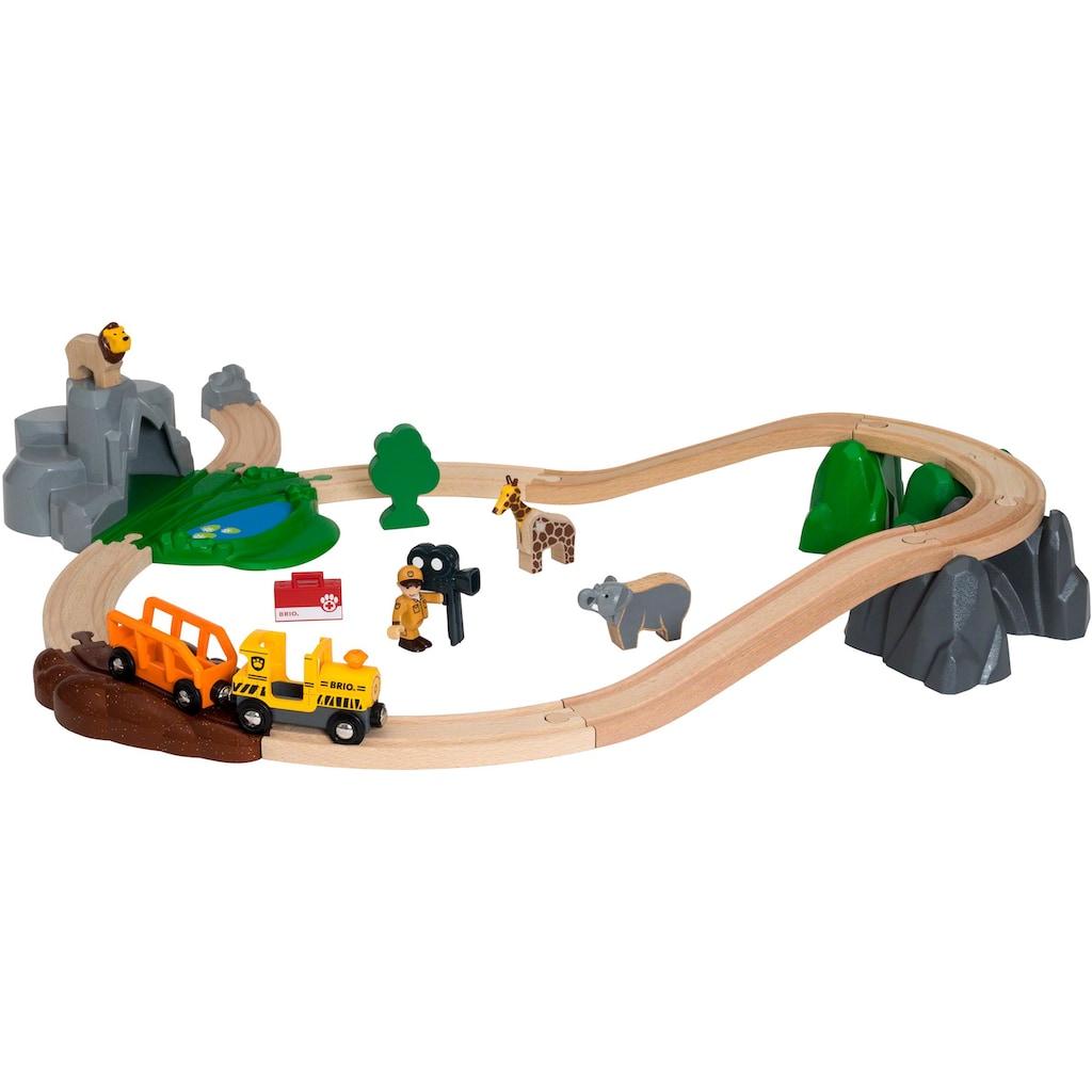BRIO® Spielzeug-Eisenbahn »BRIO® WORLD Safari Bahn Set«, FSC®-Holz aus gewissenhaft bewirtschafteten Wäldern