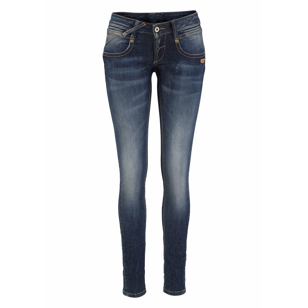 GANG Skinny-fit-Jeans »NENA«, in Crash Optik