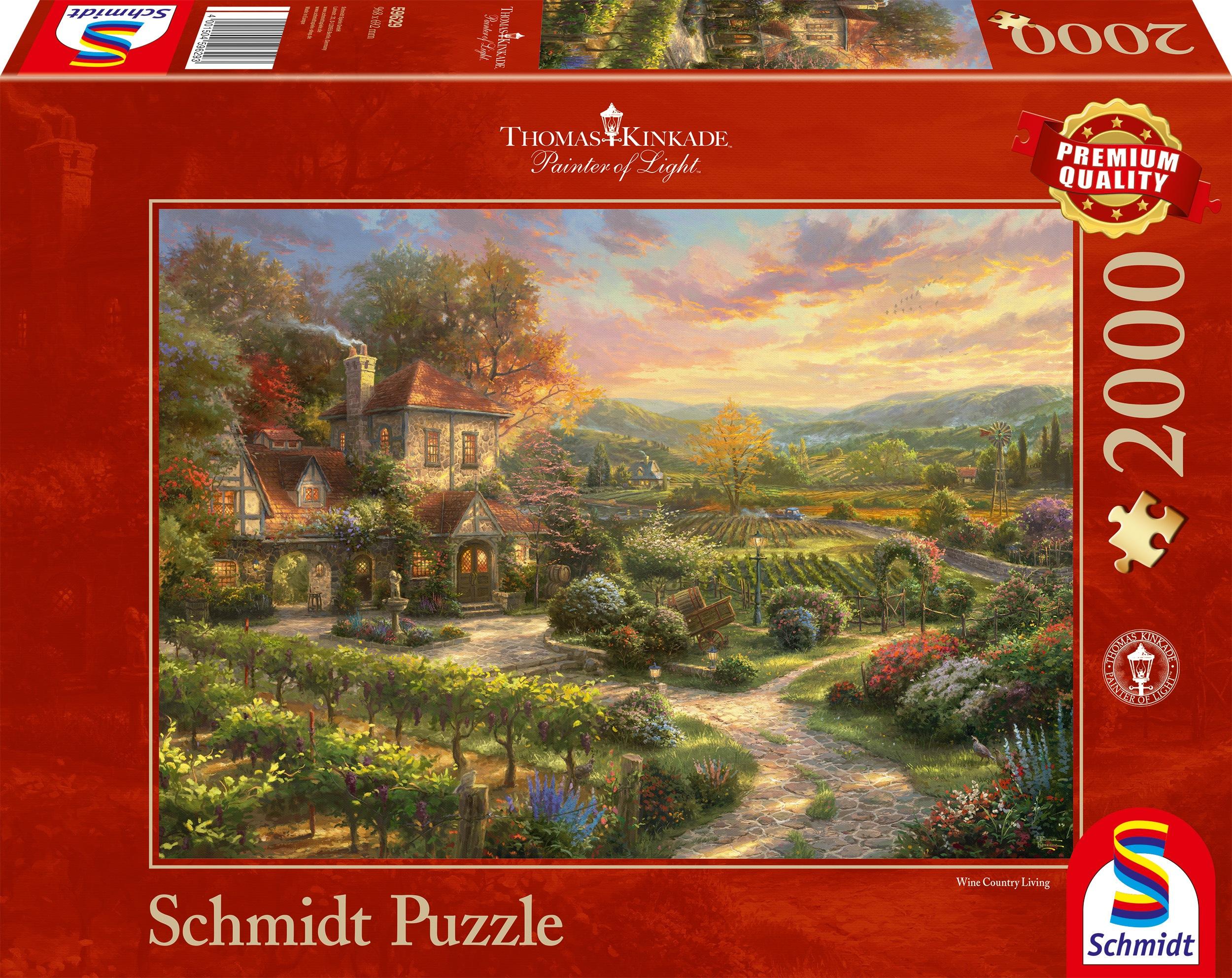 Schmidt Spiele Puzzle In den Weinbergen, Thomas Kinkade bunt Kinder Ab 12-15 Jahren Altersempfehlung