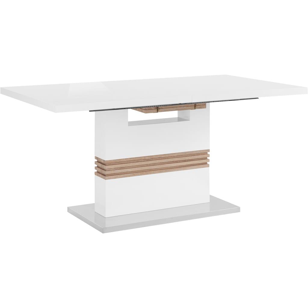 INOSIGN Essgruppe »Perez/Lola«, (Set, 5 tlg.), mit 4 Stühlen, Tisch ausziehbar, Breite 160-200 cm