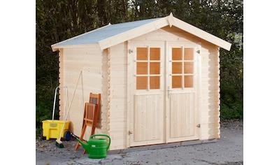 WOLFF FINNHAUS Gartenhaus »Lyon B«, BxT: 252x262 cm kaufen