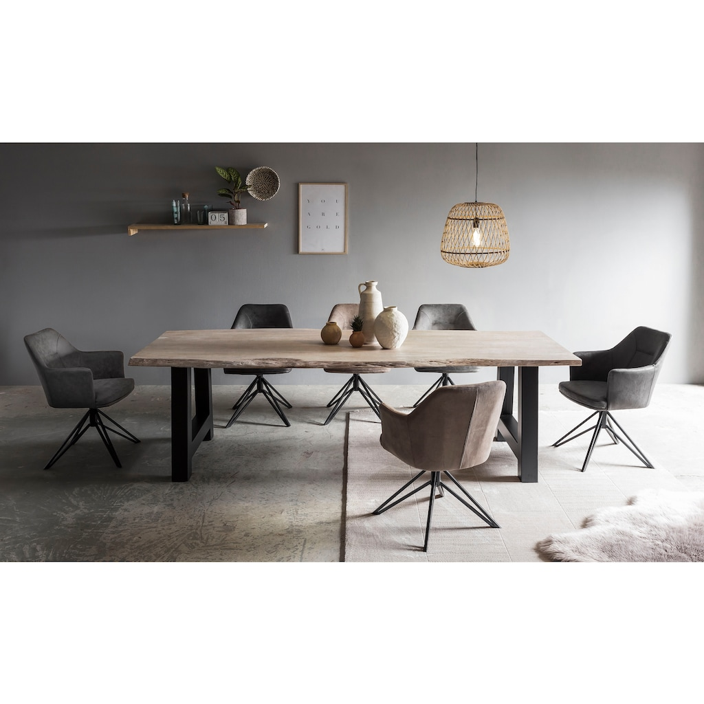 Premium collection by Home affaire Esstisch »Manhattan«, mit echter Baumkante