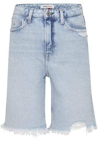 Tommy Jeans Shorts »HARPER DENIM BERMUDA SSPLBRD«, mit Used-Effekten & ausgefranstem Saum kaufen