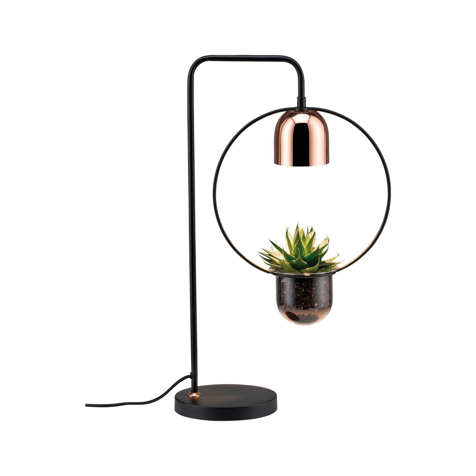 Paulmann LED Tischleuchte Fanja Pflanzenleuchte Schwarz/Kupfer, GU10, 1 St.