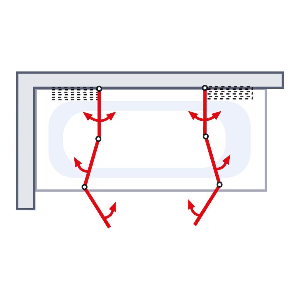 Schulte Badewannenaufsatz, nach Gebrauch flach an die Wand klappbar, Montage ohne Bohren