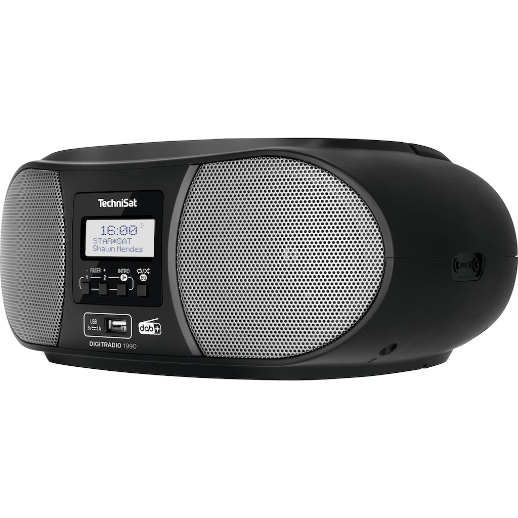 TechniSat Boombox »Digitradio 1990 Stereo-«, (Bluetooth FM-Tuner-Digitalradio (DAB+) ), mit DAB+, UKW, CD, Bluetooth, USB, Batteriebetrieb möglich