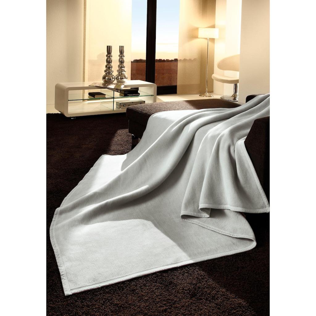 BIEDERLACK Wohndecke »Uno Cotton«, in schönen Unifarben
