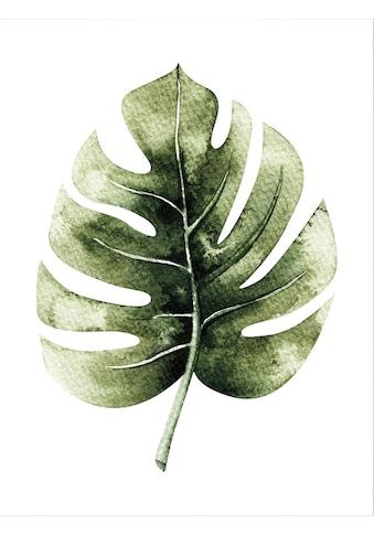 Wall-Art Poster »Kvilis - Monstera Leaf«, Poster, Wandbild, Bild, Wandposter kaufen