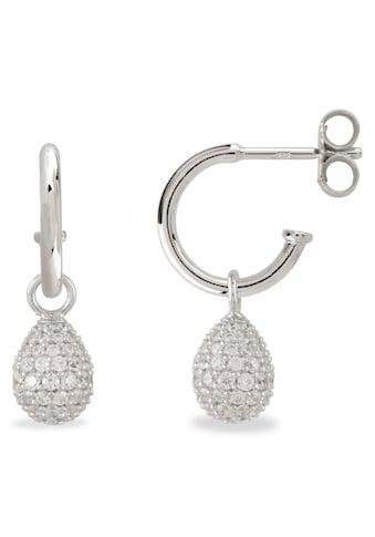 VILMAS Paar Creolen »Little Drop, 4028146653665«, mit Zirkonia kaufen