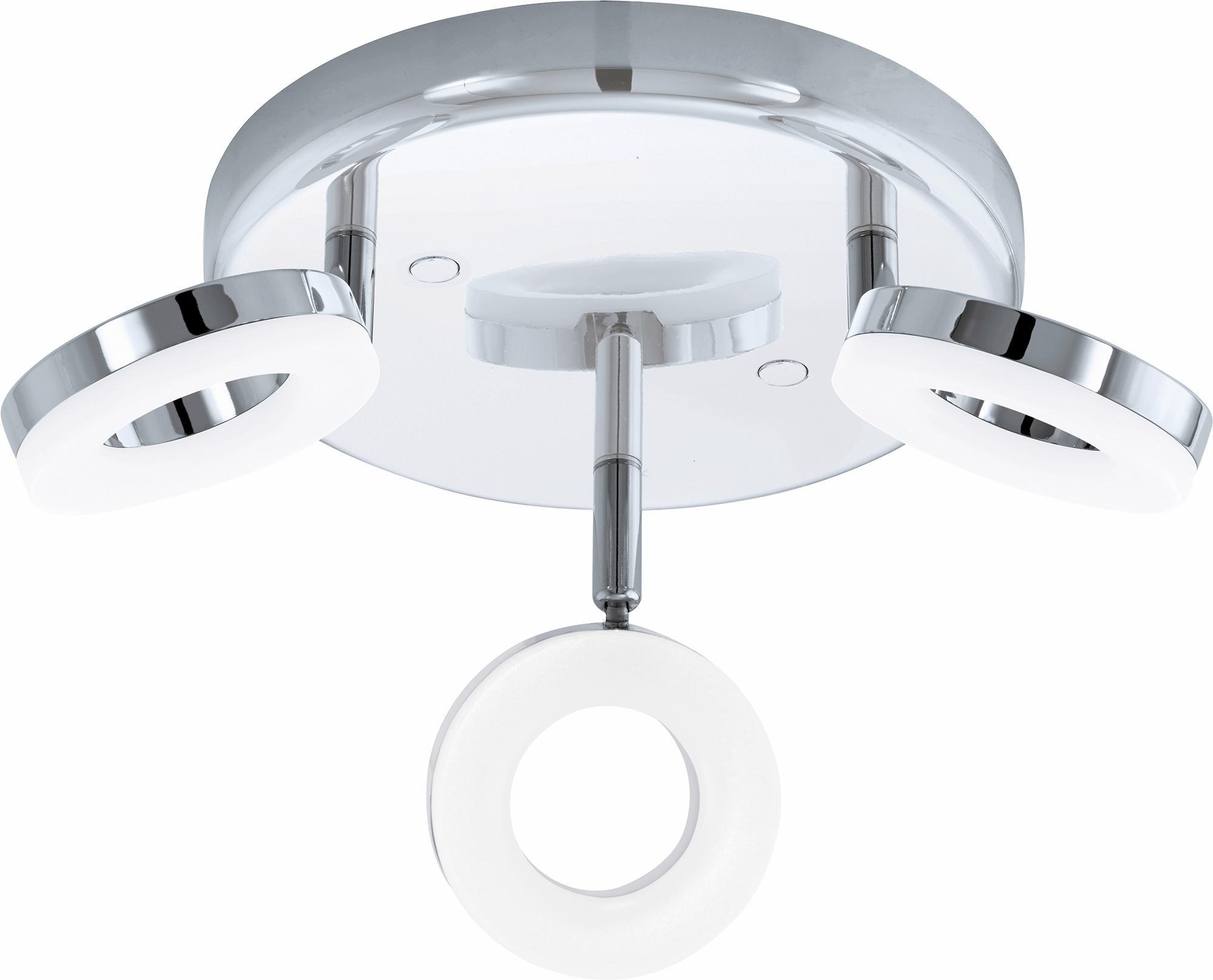 Eglo LED Deckenleuchte Badleuchte 3flg Ø 21 cm GONARO