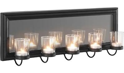 Home affaire Wandkerzenhalter »Mirrow«, Wandleuchter, Kerzenhalter, Kerzenleuchter, Wanddeko, Wanddekoration, mit Teelichthalter und Spiegel kaufen