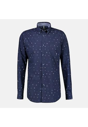 LERROS Langarmhemd, mit Alloverprint und Button-Down-Kragen kaufen