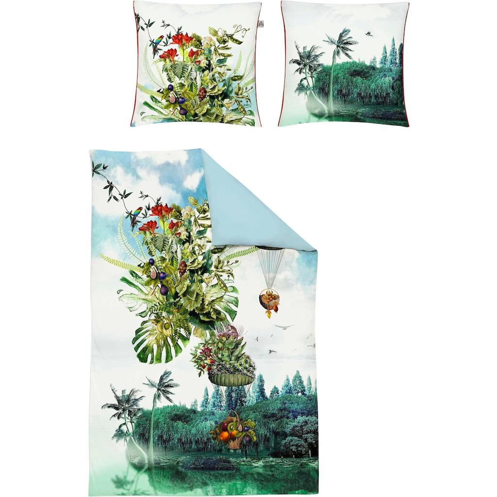 Irisette Wendebettwäsche »Juwel-K 8895«, mit tropischem Muster