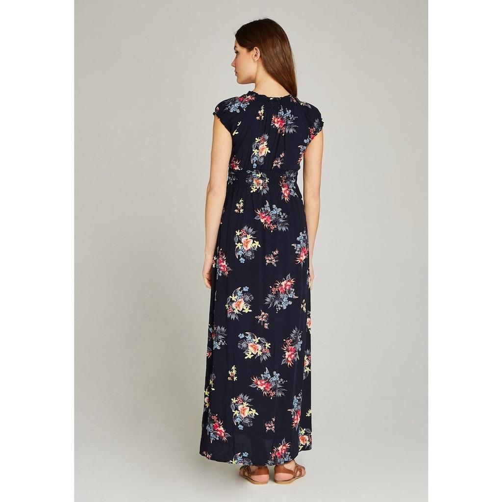 Apricot Maxikleid »Tropical Bunches Print Maxi Dress«, mit Smockdetails an Ausschnitt und Taille