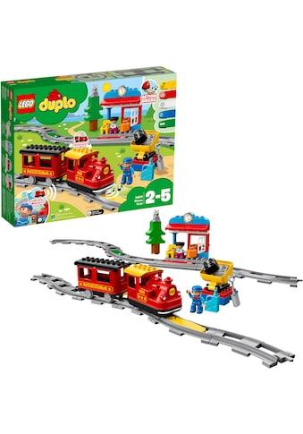 LEGO® Konstruktionsspielsteine »Dampfeisenbahn (10874), LEGO® DUPLO® Town«, (59 St.) kaufen