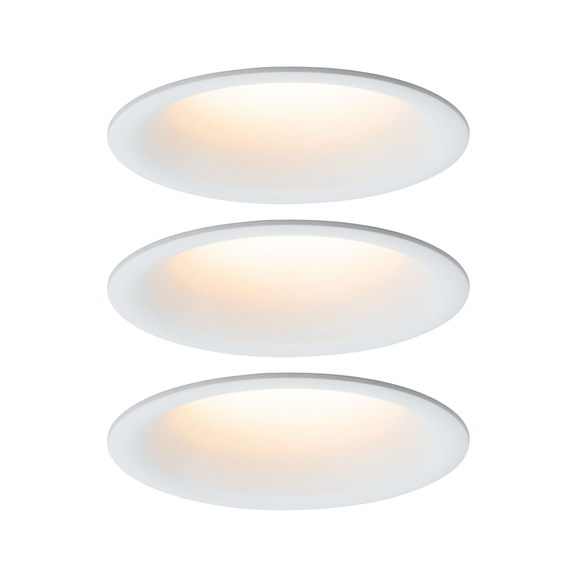 Paulmann LED Einbaustrahler dimmbar Weiß matt 3x6,5W Cymbal blendfrei, 3 St., Warmweiß