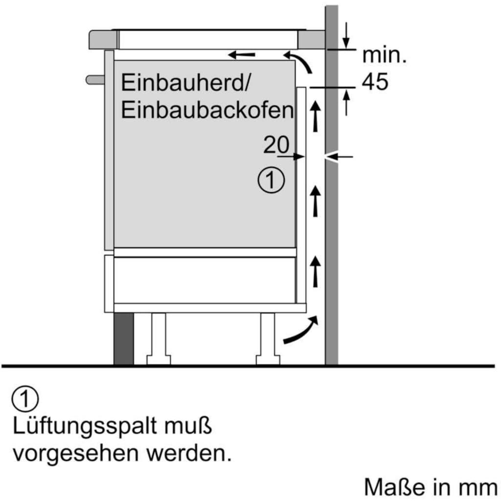 BOSCH Induktions Herd-Set »HND777LS60«, HEG579US6, mit 3-fach-Teleskopauszug, Pyrolyse-Selbstreinigung