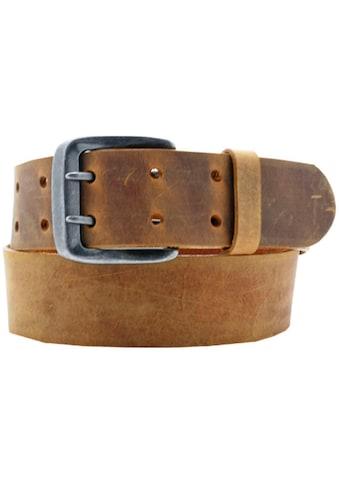 AnnaMatoni Ledergürtel, Mit Doppeldorn-Schließe im Vintage-Look kaufen