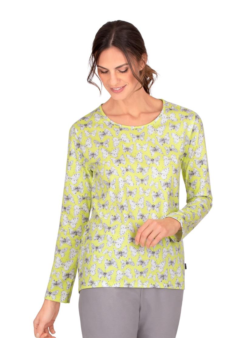 trigema -  Rundhalsshirt, mit langen Armen