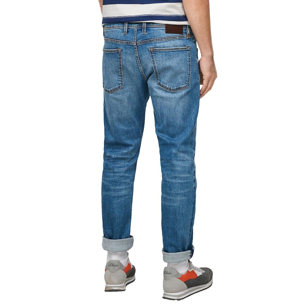s.Oliver Straight-Jeans »YORK«, mit authentischer Waschung