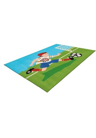 Arte Espina Kinderteppich »Joy 4090«, rechteckig, 16 mm Höhe, Fussball kaufen