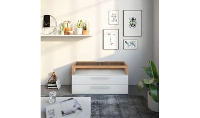 GALLERY M Lowboard »Arrive 73131«, Breite 120,3 cm, mit 2 Schubladen und einem Aufsatz mit 2 offenen Fächern, Höhe 60.9 cm kaufen