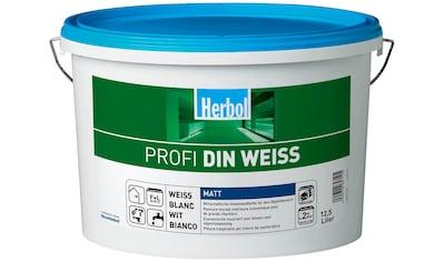 Herbol Wand- und Deckenfarbe »Profi DIN altweiß«, 12,5 Liter, weiß kaufen