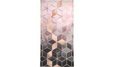 """Handtuch """"Pink Grey Gradient Cubes"""", Juniqe kaufen"""