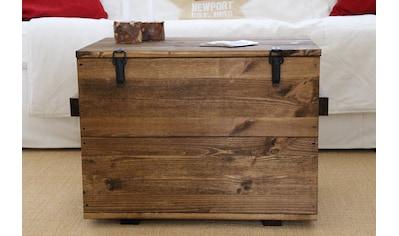 Uncle Joe´s Truhentisch »Cargokiste«, mit großzügigem Stauraum kaufen