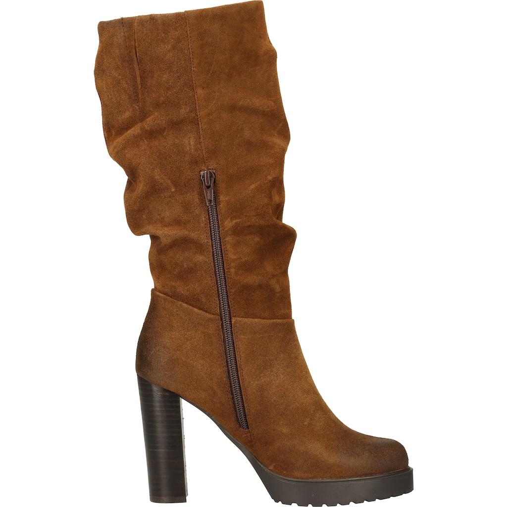 Steven New York High-Heel-Stiefel »Veloursleder«