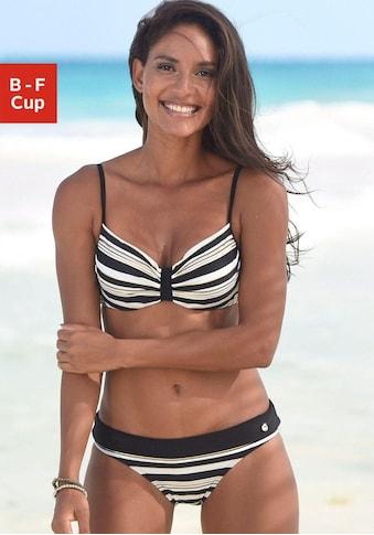 LASCANA Bügel-Bikini-Top »Caja«, mit goldfarbigen Streifen kaufen