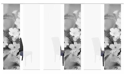 HOME WOHNIDEEN Schiebegardine »6ER SET NILA«, HxB: 245x60, Schiebevorhang 6er Set... kaufen