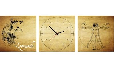 Conni Oberkircher´s Bild »Leonardo«, Menschen, (Set), mit dekorativer Uhr kaufen